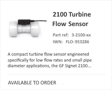 GF SIGNET 2100 Turbine Flow Meter