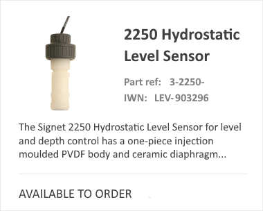 GF SIGNET 2250 Hydrostatic Flow Meter
