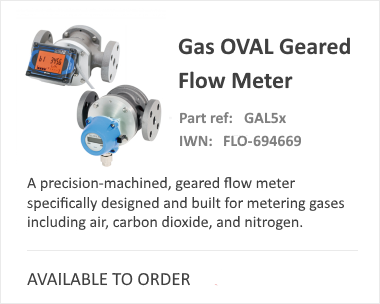 OVAL Gas Geared Flow Meter