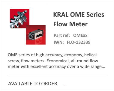 OVAL KRAL OME Positive Displacement Flow Meter