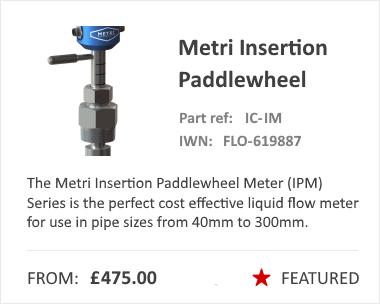 Metri Measurements Insertion Paddlewheel Flow Meter