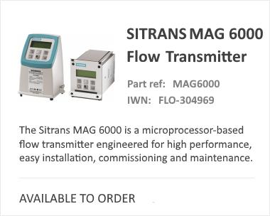 Siemens Sitrans MAG 6000 Trans Flow Meter