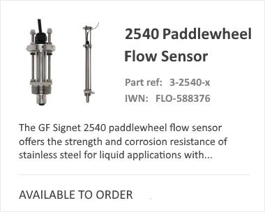 GF 2540 Paddlewheel Flow Meter