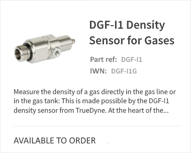 DGF-I1 Density Sensor for Gases
