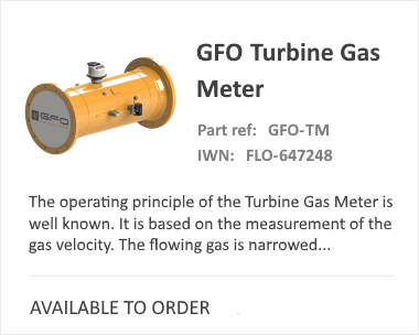 GFO Turbine Gas Flow Meter