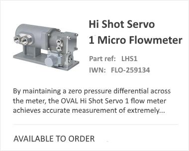 OVAL Hi Shot Low Flow Meter