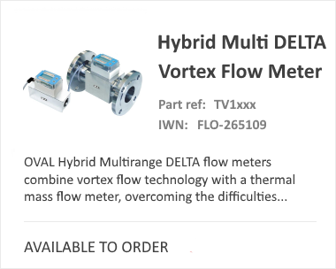 Hybrid Multi Delta Thermal Mass Flow Meter