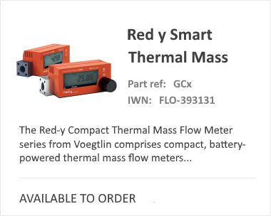 Compact Red-Y Smart Thermal Mass Flow Meter
